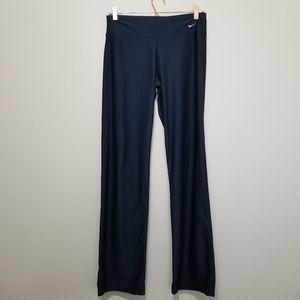 Nike dry fit navy blue full length yoga pants (f)